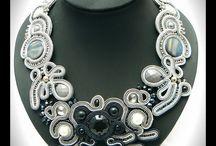 Soutache necklace soutache collar / Maya's design - unique soutache jewelry  soutache collares soutache necklaces