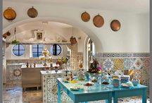 Kitchens of Italian villas
