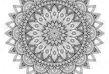 Drawings and printables - mandalas