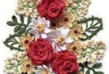 Knitting/crochet: flowers
