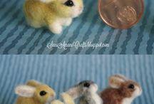 Needle felting/ miniature animals