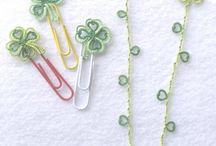 Tatting - On a paper Clip
