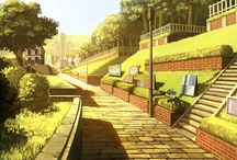 Visual novel scenery