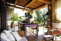 Tuscany Country / Tuscany Country style takes inspiration from the Tuscany landscape. The burned orange earth and the rustic nature of the land. It is a style inspired by farmers homes in the Tuscany region in Italy. The traditional homes were simply furnished and decorated with items produced by local craftsmen.