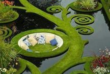 Landscape Gardening | artscape in nature| cultivated by humans | Peace Gardens around The world / ...inspiration artscapes in Nature ....