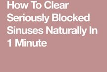 Blocked sinuses