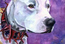 Pit Bull Art / My art work of the Pit Bull Terrier breed.