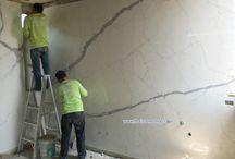 หิน Statuario 300x150 cm. : Italia surface งานติดตั้งผนังห้องน้ำ / หิน Statuario ขนาด 300x150 cm: Italia surface (Made in Italy) งานติดตั้งผนังห้องน้ำ  www.thaistoneshop.com