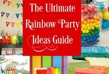 Kids party ideas for 6th birthday party / Sienna's 6th birthday party - Rainbow theme