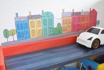 Adesivos de parede infantil / Adesivos Projeto de Mãe. Disponíveis em: http://loja.projetodemae.com.br/