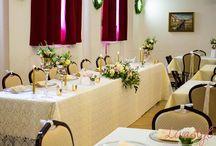 Svadba v Nemeckom kultúrnom dome Rača / Zlatá svadobná výzdoba v Nemeckom kultúrnom dome v Bratislave
