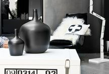 ★ Black and White Interiors ★