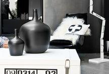 ★ Black and White Interiors ★