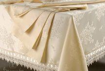 """Скатерти, Дорожки / Правильно подобранная скатерть может украсить стол в столовой, гостиной, создать хорошее настроение, придать атмосфере торжества или просто улучшить аппетит. Интернет-магазин """"Домильфо"""" предлагает широкий ассортимент изделий любых расцветок, самой разнообразной формы, выполненных из натуральных и синтетических материалов: хлопка, шелка-жаккарда, полиэстера, хлопка-полиэстера, хлопка-льна."""
