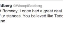 Whoopi Goldberg Rips Mitt Romney Apart In Series Of Tweets / by Mediaite .com