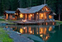 Cabin / Summer vacations in a cabin on a lake, or winter nights curled up by the fire with a good book. / by Pine Cones and Acorns Blog