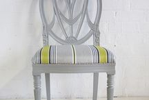Regency Chairs / Our Regency style chairs can be customised with any finish and fabric. Here are a few ideas of how this traditional chair can look. Create your own www.hiddenmill.com
