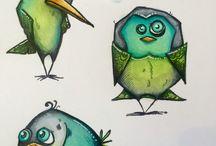 Crazy Birds - Tim Holtz