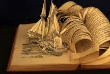 Art with books, books in art, books / by D Cm