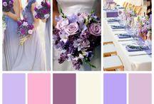 Lilac Wedding / Lilac, lavender, dusty gold, champagne, cream, purple, antique silver Clear crystal, dusty metallic, Parisian, chiffon / by Le'Anna Rodgers