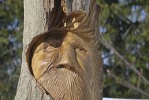 Wood Spirits / The spirit of the forest to keep watch over your home or garden.
