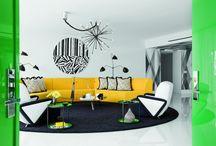 Czarno-białe mieszkanie