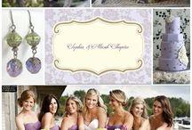 Maid of honour dresses / Dark lavender or dusty purple bridesmaids / maid of honour dresses.