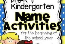 Pre-K Name Activities
