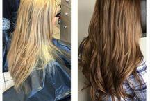 blond to brunette
