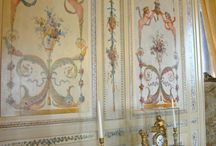 Ornamental Walls / Arabesque, grotesque, grisaille, faux, trompe l'oeil, frescoe, stencilling, mural