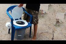 τουαλέτες αυτοσχέδια