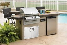 Backyard Grills and Barbecues / Imagine Backyard Living has sourced the finest manufactures for grills, doors, drawers, smokers and more. We can custom build or you can choose from our fabulous pre-fabricated kitchens, fireplaces and grills from SunFire Grills and Primo Ceramic Grills. Stop by and see this exclusive product.