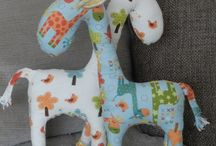 Animals to make with fat quarters