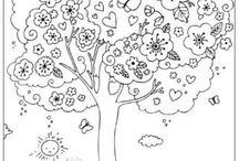 albero da colorare kandisky