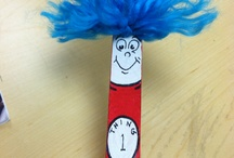 Dr. Seuss Crafts, Activities, Games, Crafts Lessons, Printables for Kindergarten and Preschool / Crafts and activities for Dr. Seuss week. The cat in the hat, Horton, Red Fish Blue Fish, 10 Apples Up On Top, etc.