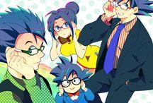 goku y milk familia