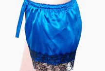 ROYAL BLUE / A showcase for our 'Jewel Collection' of  'Royal Blue'  sleepwear and accessories