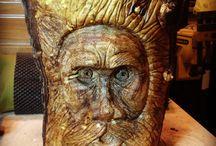 Tree Spirit / Tree Spirit revealed! Carob Wood. El Espíritu del Árbol revelado! Madera Algarroba. www.carmendelapaz.com #woodcarving #woodwork #TreeSpirit