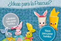 Pascua de Resurrección / Encuentra ideas simples y divertidas para recolectar huevitos esta Pascua.