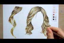 Draw and Colour Hair Tutorials