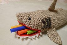 Shark crocheted-knitted