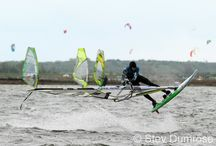 Windsurfing / Windsurfing-Action at WaterSportsIsland Fehmarn