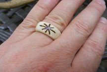Homemade bone rings