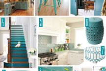 Teal & White Decor / Teal and white decor, teal and white decorations, teal and white home, teal and white kitchen, teal and white  bathroom, teal and white picture frames, all things teal and white.