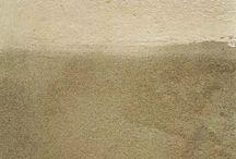 en partie mûre / fragments de murs de venise et burano