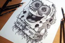 Desenhos a lápis