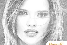 Pencil Sketch Maker / Pencil Sketch Maker app make you an artist by creating pencil sketch of your photos. You can capture picture from your camera to generate the sketch. Both black-white and color sketch results can be easily created by JUST one button click.