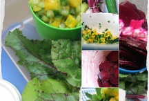 Rohe-Rote Beete Salat mit Mango-Gurken-Salsa / Salat