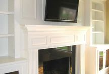 Fireplaces with bookcases