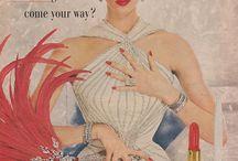 Vintage make-up ads